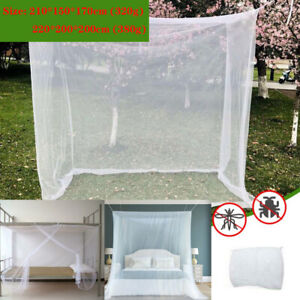 Mosquito Fly Bug Net 4 Corner Post Bed Queen Home Decoration Hanging Bed Valance