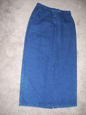 """Mountain Lake Women Denim Skirt 10 100% Cotton  29"""" W 37"""" L 39"""" Hip Blue SK 25"""