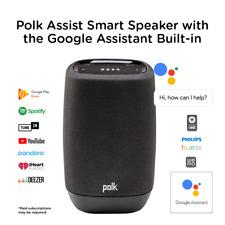 NEW Polk Assist Smart Audio Bluetooth Speaker w Google Assistant Black (AM9305)