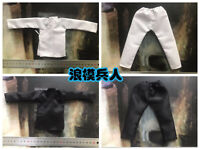 1/6 Ming Dynasty Ancient Guard Solider Black/White Clothes Set F12'' Figure Body