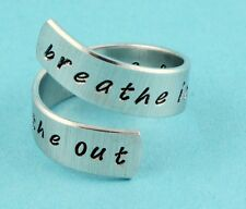 Breathe In Breathe Out Move On Wrap Ring Adjustable Twist Aluminum Ring