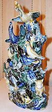 "~ Fab Vintage ASIAN STUDIO Original ART HAND MODELED Pottery BIRDS Marked 13"" ~"