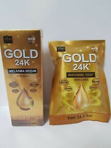 Vivi Gold 24k Melasma Serum and Whitening Soap Skin Care Set