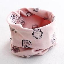 Fashion Autumn Winter Boys Girls Owl Print Collar Baby Scarf Cotton Neck Scarves