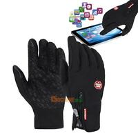 Cycling Bike Glove Warm Outdoor Windproof Waterproof Skiing Touch Screen Mittens