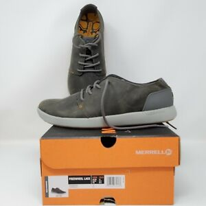 Merrell Mens Freewheel Shoes, Charcoal, Size US 10.5, New In Box, Casual, Oxford