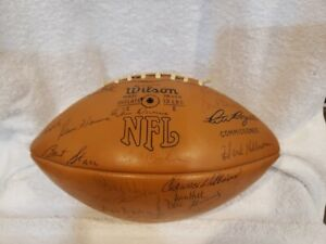 AWESOME Green Bay Packers 1972 TEAM SIGNED Wilson NFL Football, Bart Starr, NICE