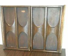 Mid Century Danish Nelson Lu Van Gusdorf Record Cabinet Credenza Cart 2 Doors