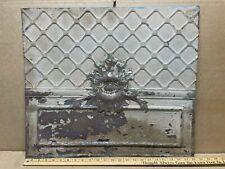 "1pc 23"" x 20"" Piece Antique Ceiling Tin Vintage Reclaimed Salvage Art Craft"