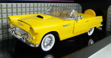 Motormax 1/24 Scale 1956 Ford Thunderbird Yellow Diecast model car