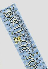 Congratulations On the Birth Of Your Baby Boy Banner Party Decoration P1660