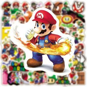 50PCS Super Mario Game Sticker Lot Vinyl Skateboard Laptop Car Kids Free Ship