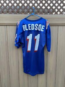 Vintage Champion Drew Bledsoe #11 Blue XL Jersey New England Patriots Sz 44