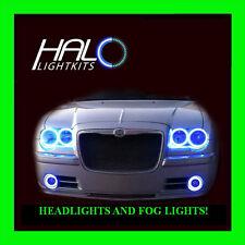 2005-2010 CHRYSLER 300 BLUE PLASMA HEADLIGHT+FOG HALO KIT 6 RINGS by ORACLE