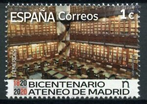 Spain Architecture Stamps 2021 MNH Ateneo de Madrid Bicentenary Library 1v SSet
