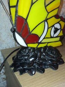 vintage Tiffany Style Lamp . Butterfly . nightlight.