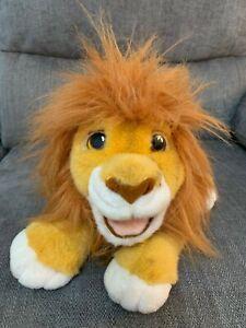 "Lion King Simba Roaring Puppet Soft Plush Cuddly Toy Teddy Disney 1993 11"""