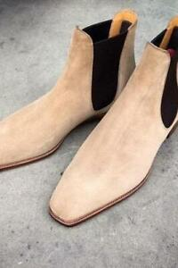 Handmade Men Shoes Leather Boot Slipper Loafer Suede Leather Boot Chelsea Formal
