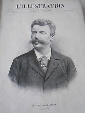 1893 Troubles quartier Latin Duc d'Uzès portrait de Guy de Maupassant