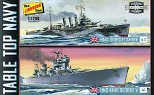 Lindberg 1:1200 HMS King Goerge/HMS Dorsetshire Model Set LND439