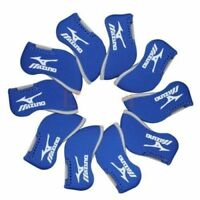 11PCS Blue Neoprene Window Mizuno Golf Club Iron Covers HeadCovers UK