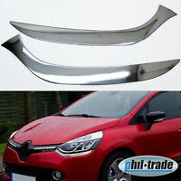 Chrom unter Scheinwerfer Blenden für Renault Clio IV ab 2012 Edelstahl Umrandung