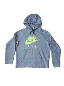 Nike Air Gray Pullover Hoodie Youth Large Yellow Nike Emblem