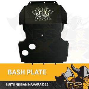 Nissan Navara D22 Bash Plate 4MM Steel Matte Black