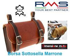 """0917 - Borsa Sottosella """"RMS"""" in Ecopelle Marrone/Cuoio per Bici Corsa Vintage"""