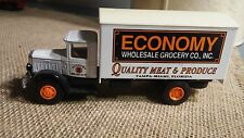 MACK delivery box truck ECONOMY Wholesale Grocery by HARTOY Inc, 1991 vintage