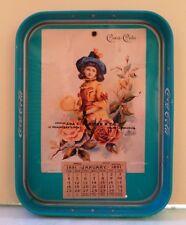 COCA COLA SODA METAL SERVING TRAY CALENDAR GIRL JANUARY 1891