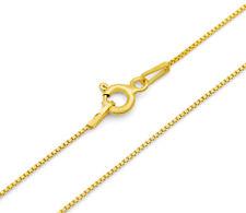 Venezianerkette 925 Sterling Silber vergoldet 0,7mm 45 - 50cm Silberkette Gold