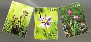 Kosovo 2017 Nr. 378-80 Einheimische Pflanzen Flora Tulpe Wiesenblumen