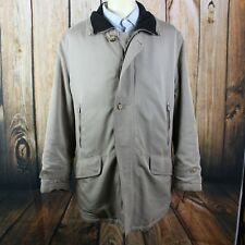 Canali Zip Up Button Jacket Sz 50 XL MADE IN ITALY Casual Coat Beige FLAWS