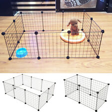 6/10 Panels Foldable Pet Puppy Playpen Crate Fence Kennel Exercise Animal