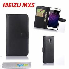 CUSTODIA COVER FLIP CASE NERO + STAND + CARD SLOT PER MEIZU MX5 MX 5