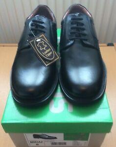 Mens Scimitar Leather Shoes, Lace Up - Black Size UK 8 M903AZ
