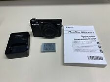 CANON POWERSHOT G9X MARK II 20.1MP DIGITAL CAMERA W/ BATTERY & CHARGER