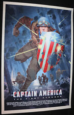 Captain America First Avenger by Stan & Vince MONDO Screen Print (EX) 2016