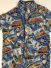 REYN SPOONER JOE KEALOHA'S 1996 SURF WOODY NOSTALGIA HAWAIIAN PRINT SIZE MEDIUM