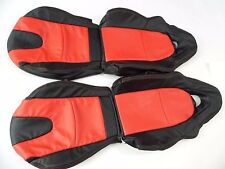 2003-2011 Mazda RX-8 Synthetic Leather Seat Covers Black With Red Inserts
