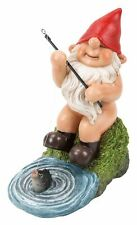Gnaughty Gnome Naughty Fishing Ornament Gift - Indoor or Outdoor - Funny NEW