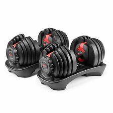 Bowflex SelectTech 552 Adjustable Dumbbells (Pair) -5 to 52.5 lb MINT CONDITION!