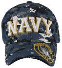 NEW! US NAVY SIDE ROUND USN BALL CAP HAT DIGITAL NAVY CAMO