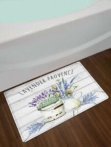 Lavender Provence Rustic Farmhouse Door Mat Bathroom Kitchen Floor Rugs Carpet