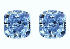 2 SAPPHIRES CUSHION BLUE 12x12 mm LOOSE 20 TCW PAIR HARDNESS 9 DIAMOND-SPARKLING
