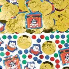 Pirate Party Prismatic Confetti doubloons Skull and Cross Bones Decorations