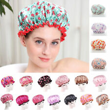 Women Cute Shower Hat Waterproof Elastic Bathing Bath Salon Hair Head Cap 7Color