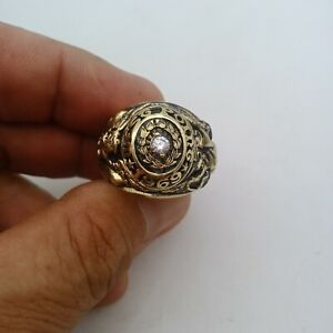 US Military Academy West Point Rings 1969 , USMA  , Diamante Stone , Gold 10k