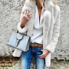 UK Womens Oversized Teddy Bear Coat Ladies Winter Warm Faux Fur Cardigans Jacket